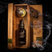 CAPT FAWCETT'S RICKI HALL BOOZE & BACCY BEARD OIL & MOUSTACHE WAX GIFT SET